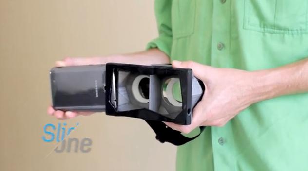 スマートフォンを使うヘッドマウントディスプレイ