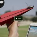 紙飛行機をスマートフォンでコントールするガジェット
