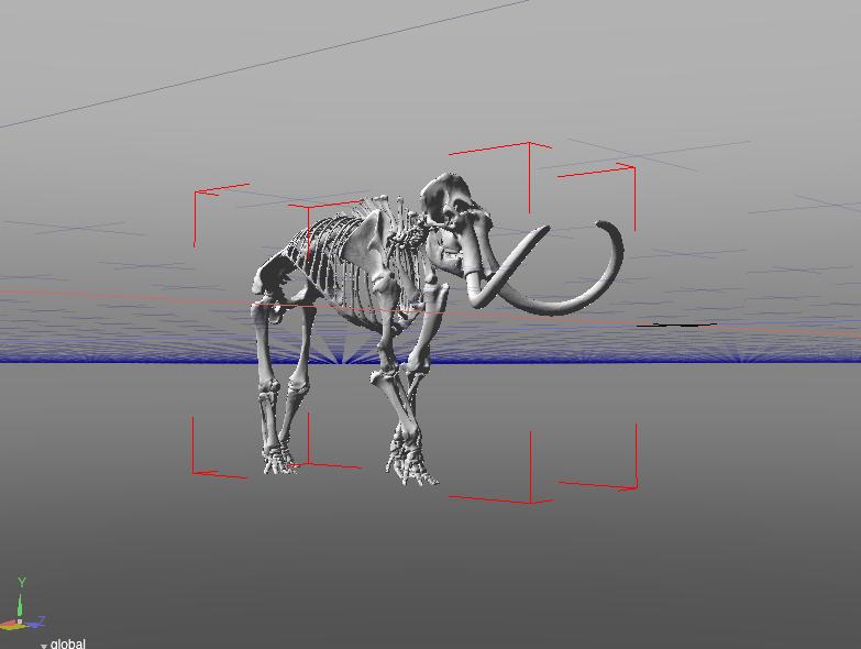 マンモスの3Dデータ