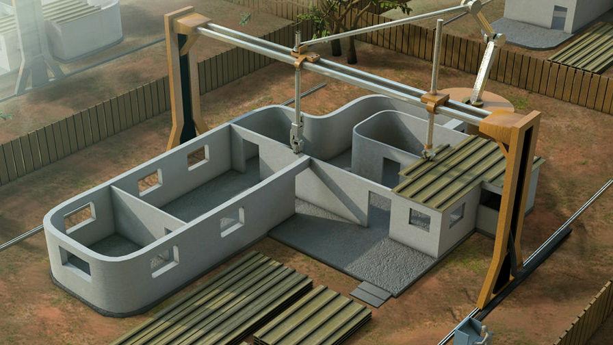 家を建てる3Dプリンター