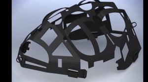 折り畳める自転車用ヘルメットの構造