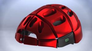折り畳める自転車用ヘルメットのデザイン