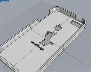 iPhone5ケースを Rhinocerosで作る