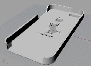 にゃんこ模様のiPhoneケースのSTLデータ