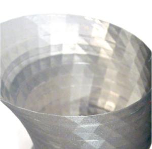 3DプリンターTrinoで出力したものの薄さ0.5mmの積層