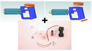 3Dプリンターで作るゴム銃