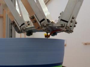 デルタ型の大型3Dプリンターのノズル