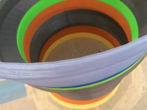 デルタ型巨大3Dプリンターでの積層物の厚さ