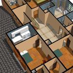 3DCG 室内の3Dプリント例