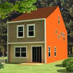 3DCG 建物の3Dプリント例