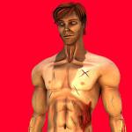 3DCG 人物の3Dプリント2例
