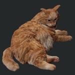 IZANAGI 3DでのネコのCGモデル