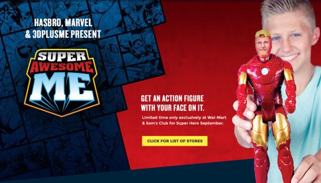 ウォルマートでマーベルコミックスのキャラクターを3Dフィギュアに