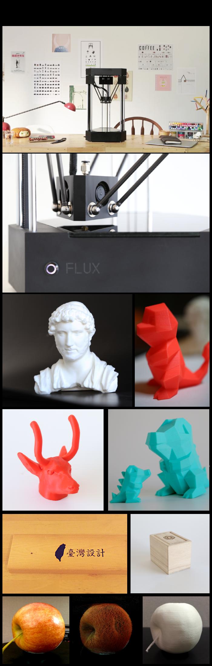 FLUXの造形サンプル