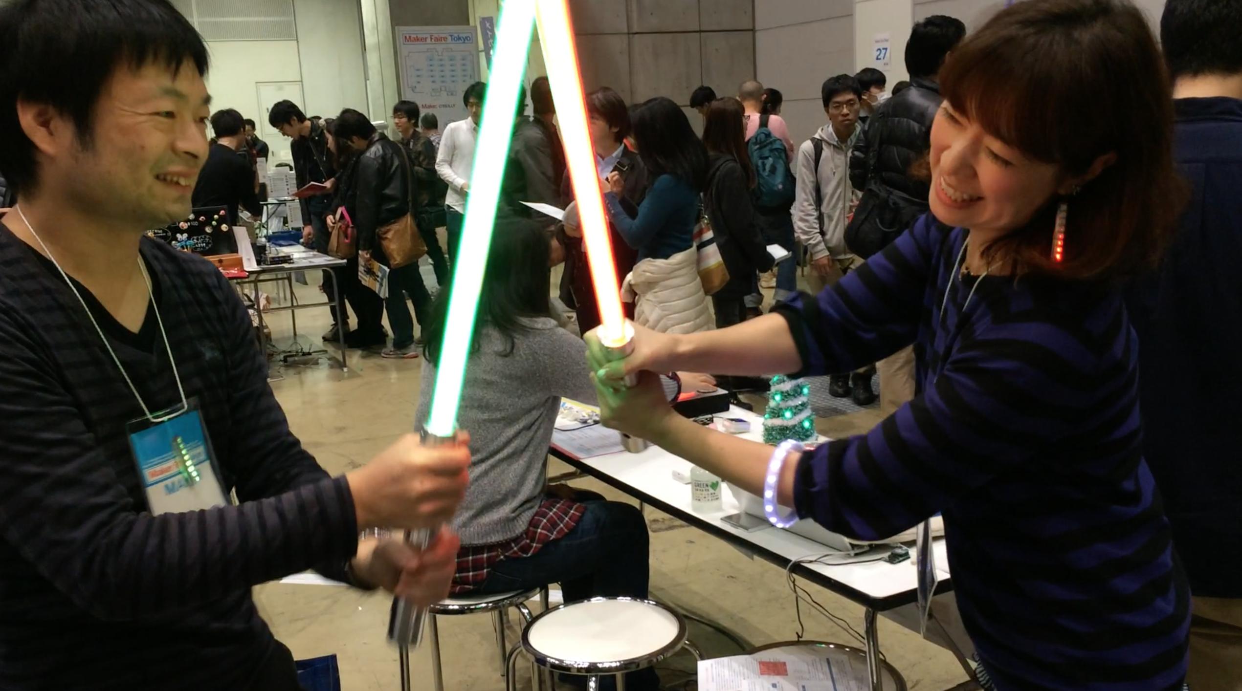 Maker Faire Tokyo 2014でのライトセイバー