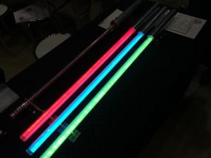 光るライトセイバー