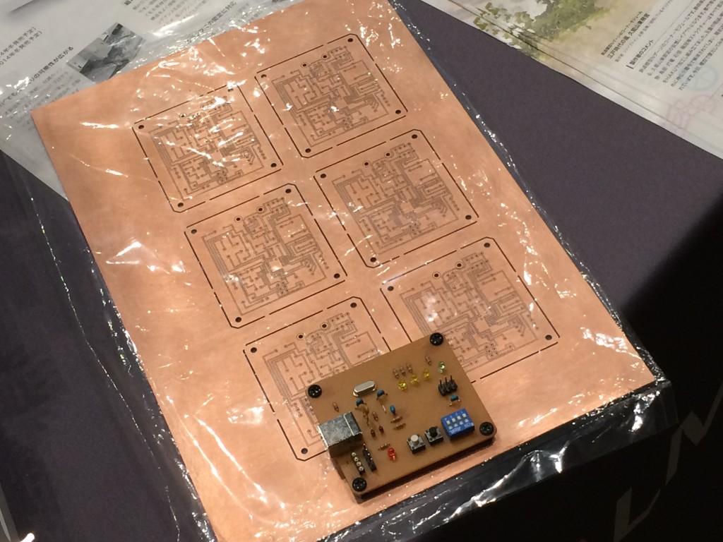 CNCでプリント基板を作成