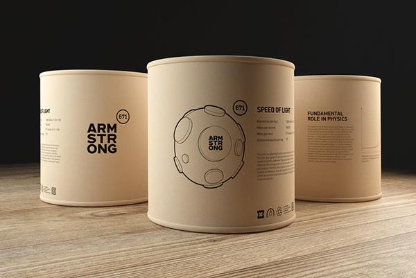 フロアランプのアームストロングのパッケージ