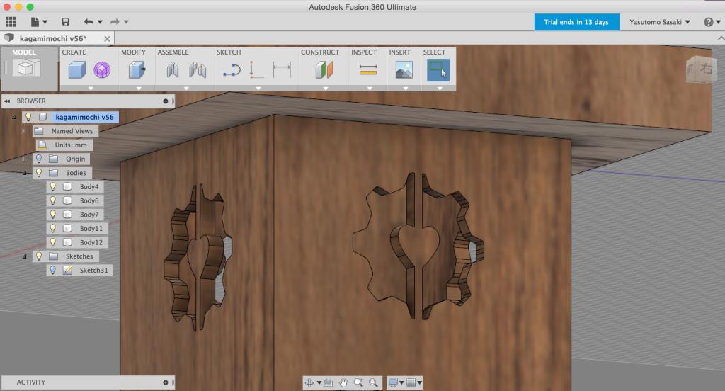 3DCADにillustratrのデータを読み込む4