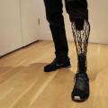 メッシュ構造の3Dプリンターの義足Exo Prosthetic Leg