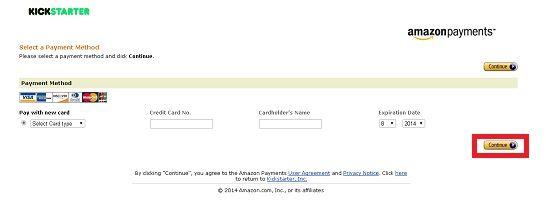 アマゾンペイメントでカード情報を登録