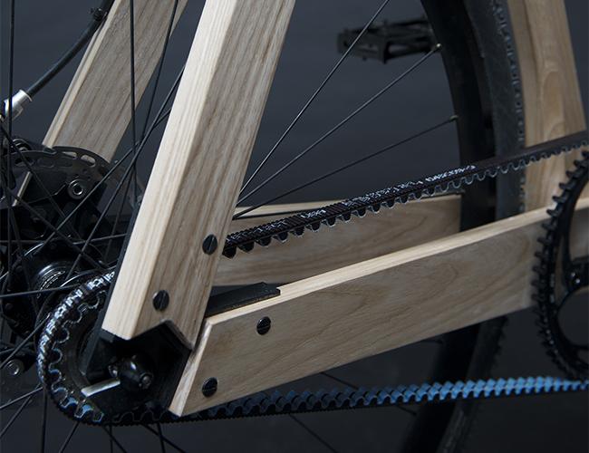 木製の自転車