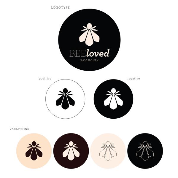 BEElovedのロゴデザイン