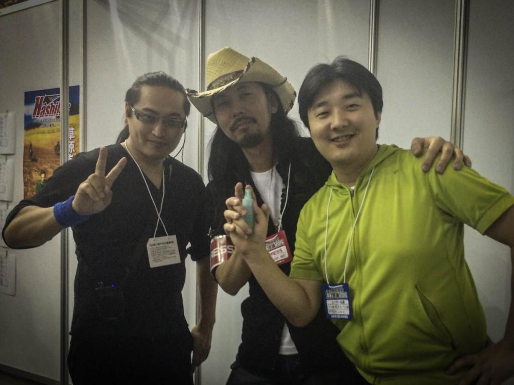 VRプロデューサー「藤山様」(写真左)Hashilusのプログラマー「長谷川様」(写真右)