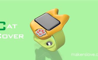 猫型のApple Watchカバー