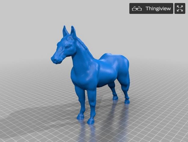 馬の3Dデータ