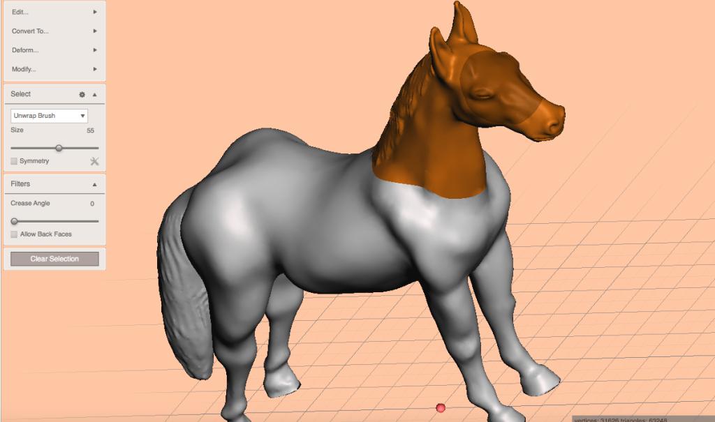 馬の首を選択する