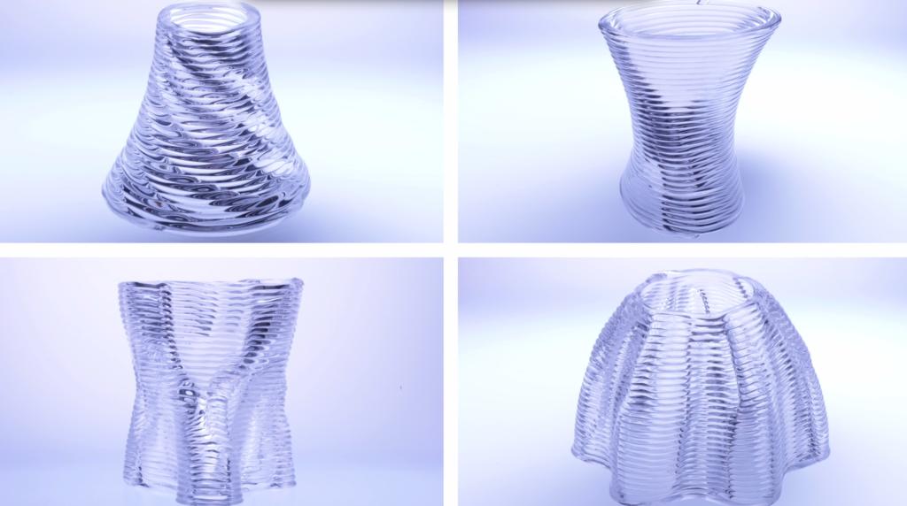 いろいろなパターンでガラスを積層