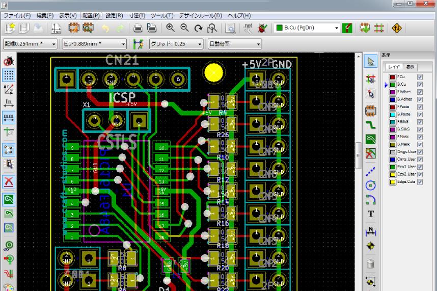 基板エディター 基板設計CAD