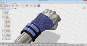 CADで腕にピッタリハマるプロテクターを作成