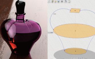 Fusion360のロフトでボトルを作る