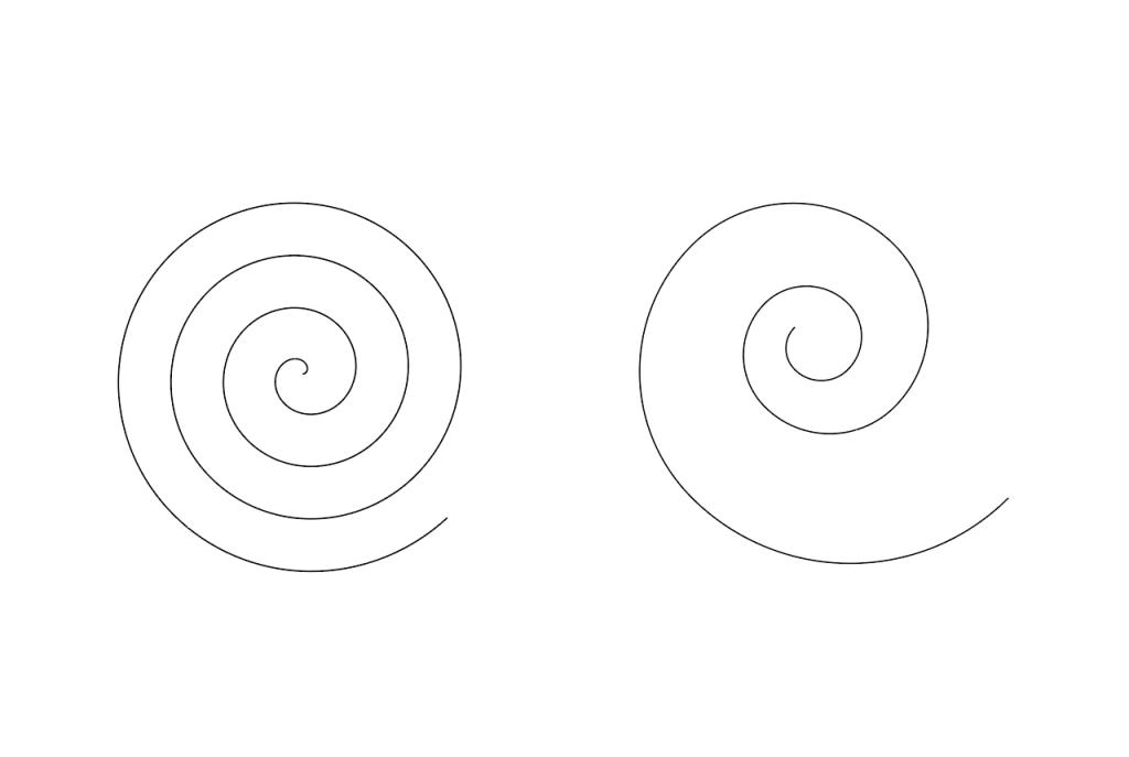 イラストレーター螺旋