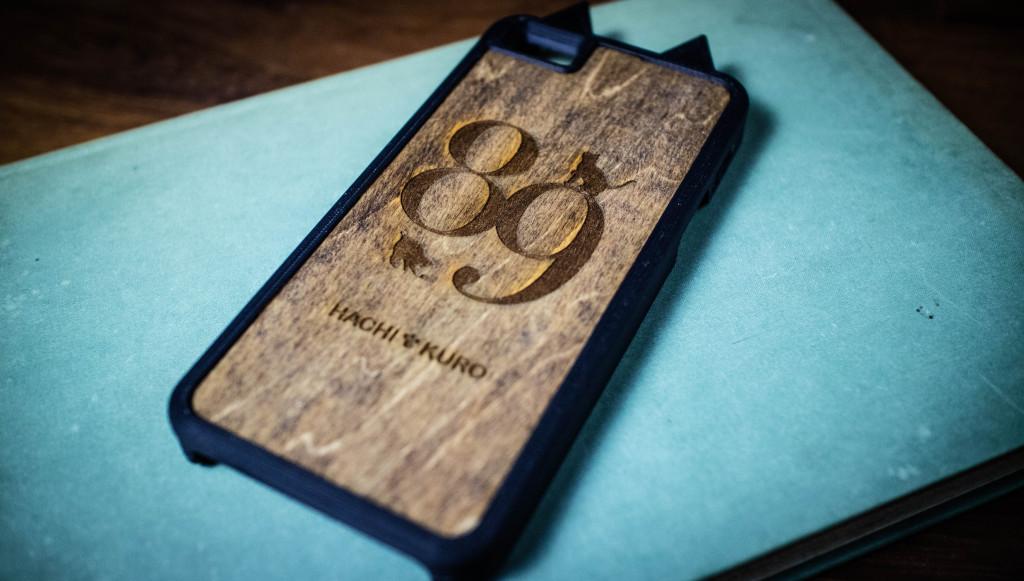 レーザーカッターで作った木製のiPhoneケース