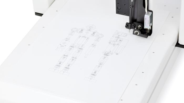 DTR150Fで作ったペンプロッター