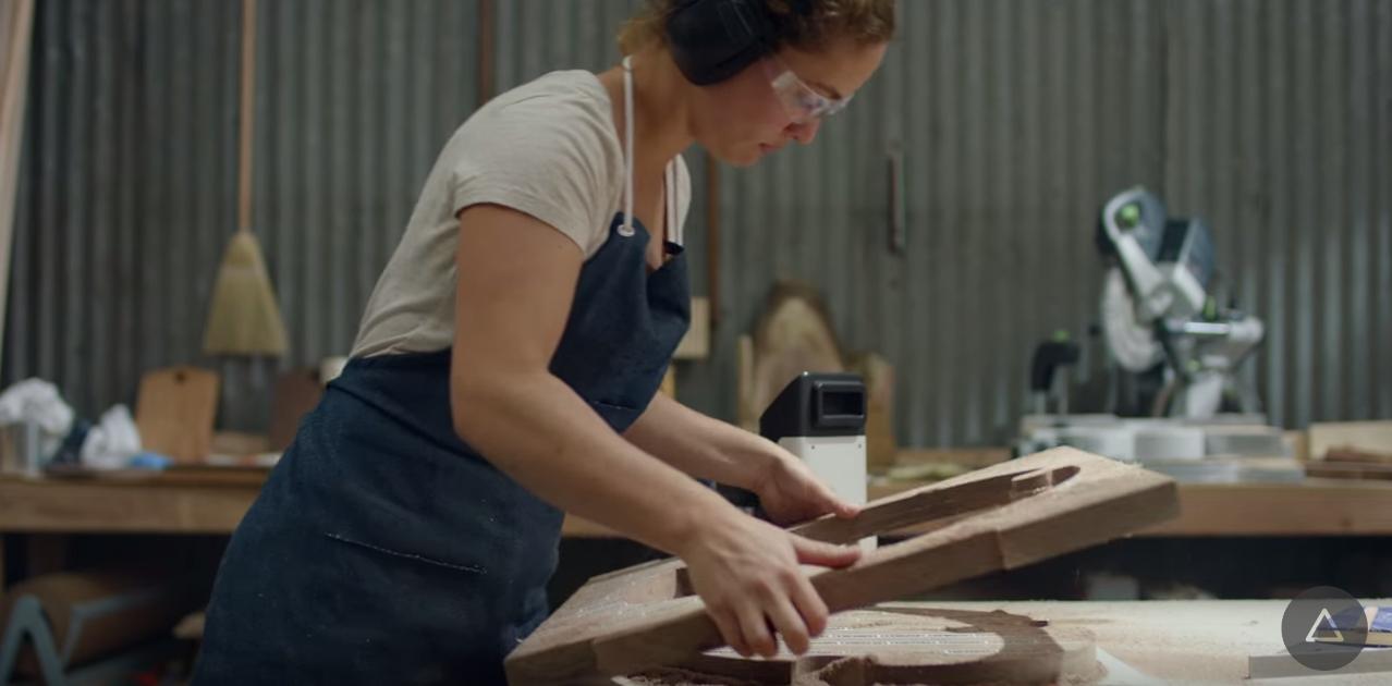 厚手の木材が加工できました
