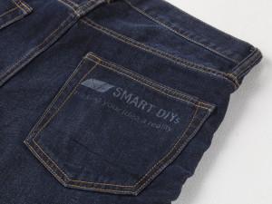 レーザーカッターでジーンズを加工