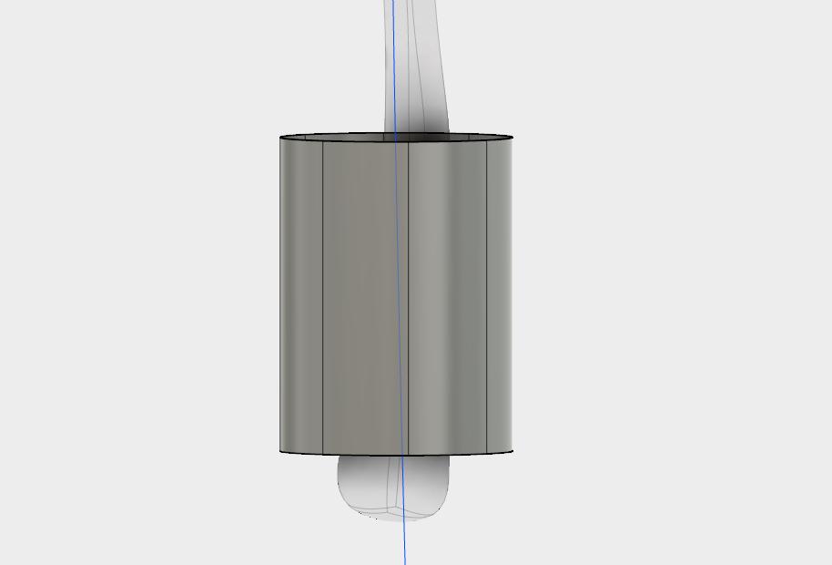 スカルプトモードの「押し出し」でつかの周りに面を作る