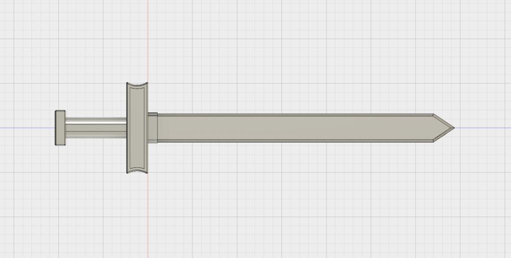 安物の剣の3DCADモデルが完成