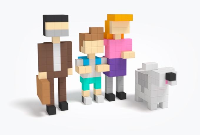 磁石の玩具PIXIOで作った家族