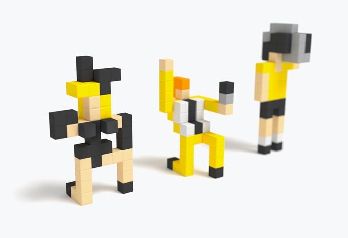 磁石の玩具PIXIOで作ったキャラ