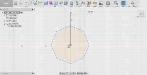 「内接ポリゴン」で八角形を描く