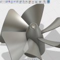 Fusion360で作った扇風機のファン