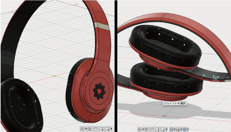 Fusion360で製品を折りたたむアニメーショ