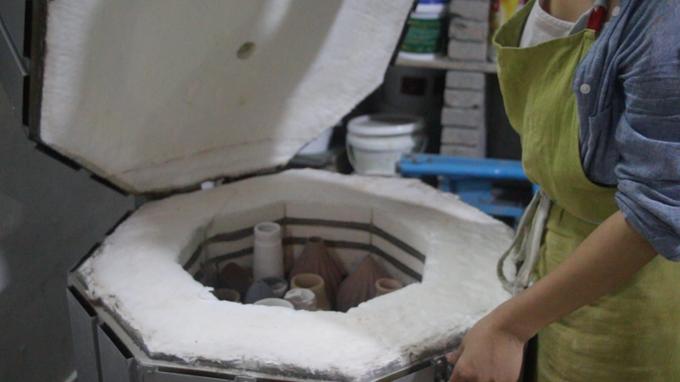 炉で焼くと陶器として使える
