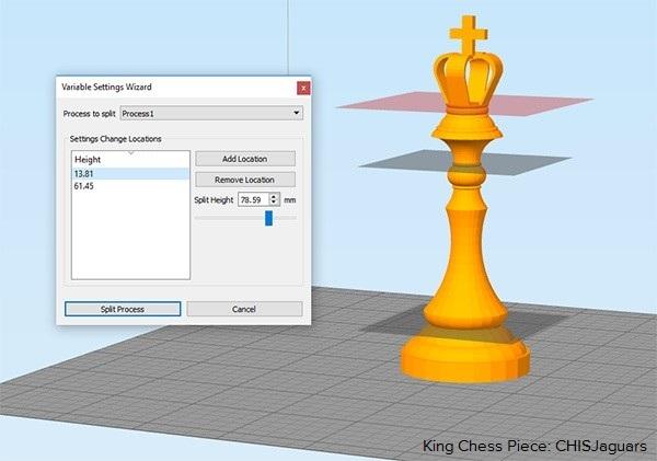 Simplify3Dで複数の設定を割り当て