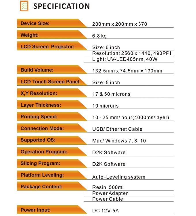 D2K Insightのスペック表